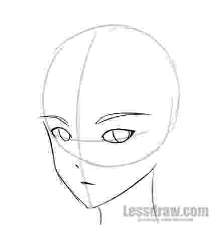 anime boy head how to draw anime boy step by step for beginners lessdraw anime head boy