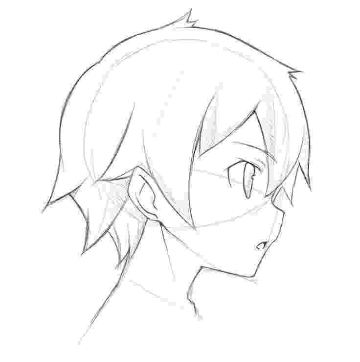 anime boy head how to draw boy anime heads step by step for beginners head boy anime