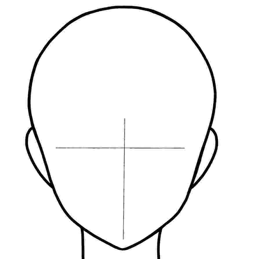 anime boy head outline drawing of anime male characters head and face anime boy head