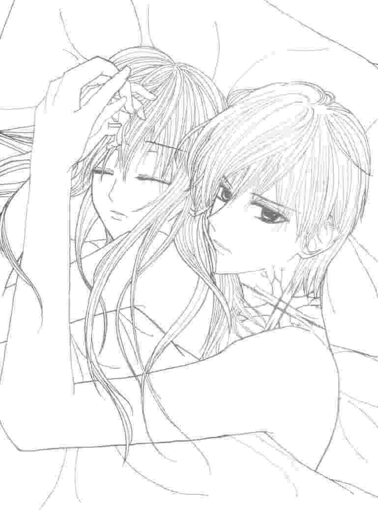 anime couple coloring pages anime girl and boy hugging easy outlines division of coloring anime couple pages