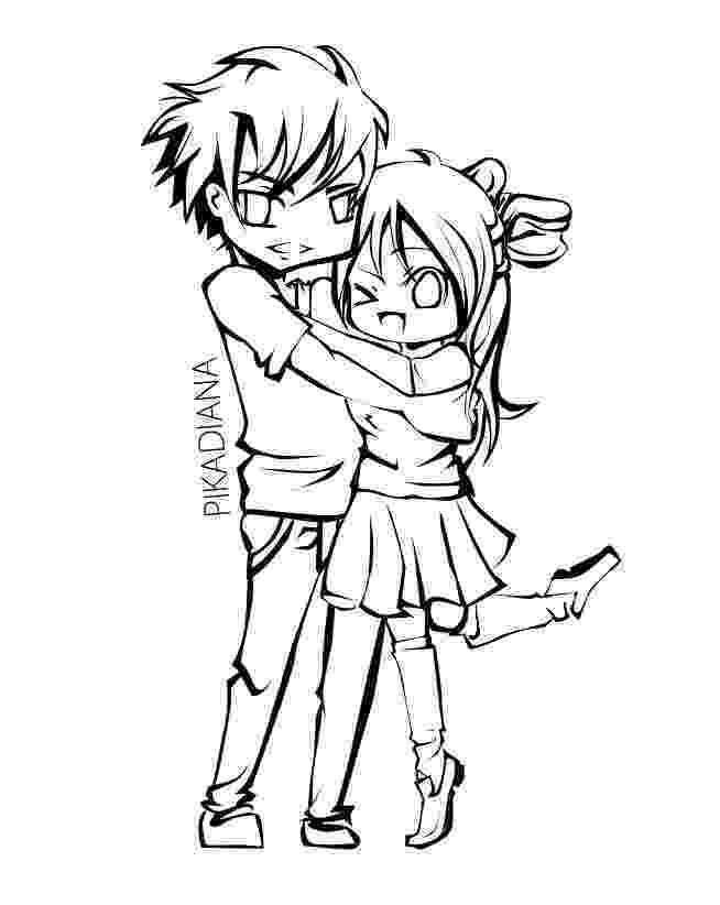 anime couple coloring pages cute anime couple hugging coloring pages anime couple pages coloring