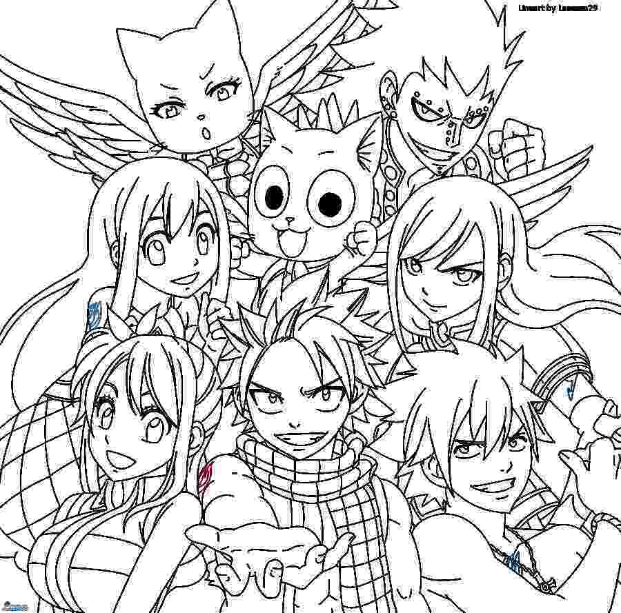 anime fairy coloring pages fairy tail sexy erza scarlet fantasia lineart by pages anime fairy coloring
