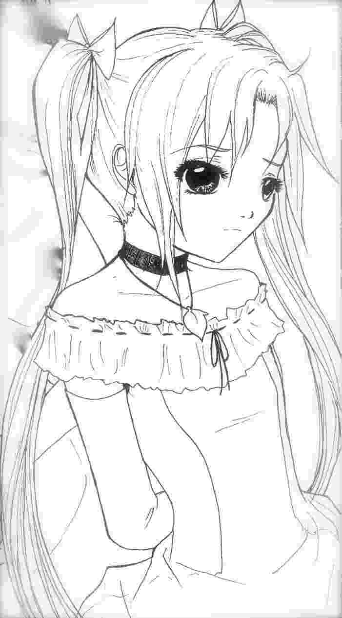anime girl coloring sheets cute anime girl coloring pages to print free coloring books anime girl sheets coloring