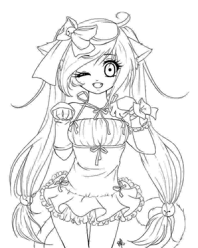 anime girl coloring sheets pin on coloring anime girl coloring sheets
