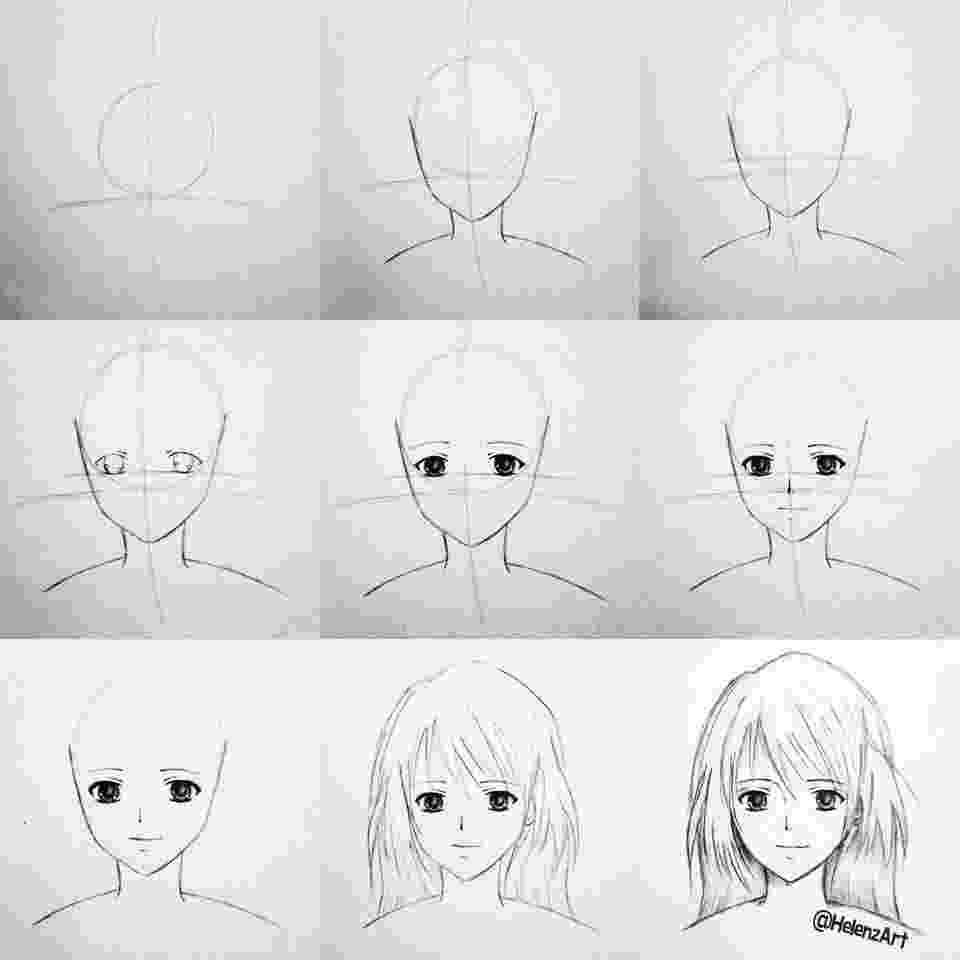 anime tutorials step by step tutorial on how to draw an animemanga girl tutorials anime