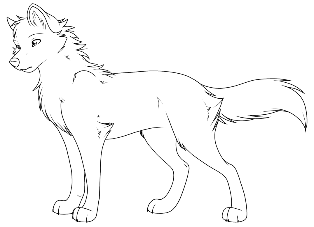 anime wolf coloring pages free printable wolf coloring pages for kids coloring wolf anime pages