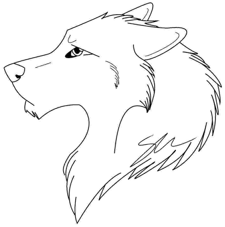 anime wolf coloring pages wolf lineart by firewolf anime on deviantart pages wolf coloring anime