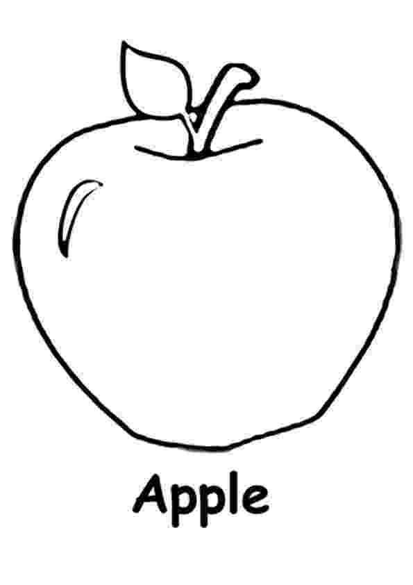 apple coloring images free fruits and veggies coloring pages printable fruits apple coloring images