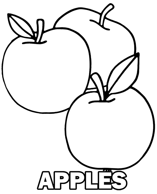apple coloring images three tasty apples free coloring page to print coloring apple images