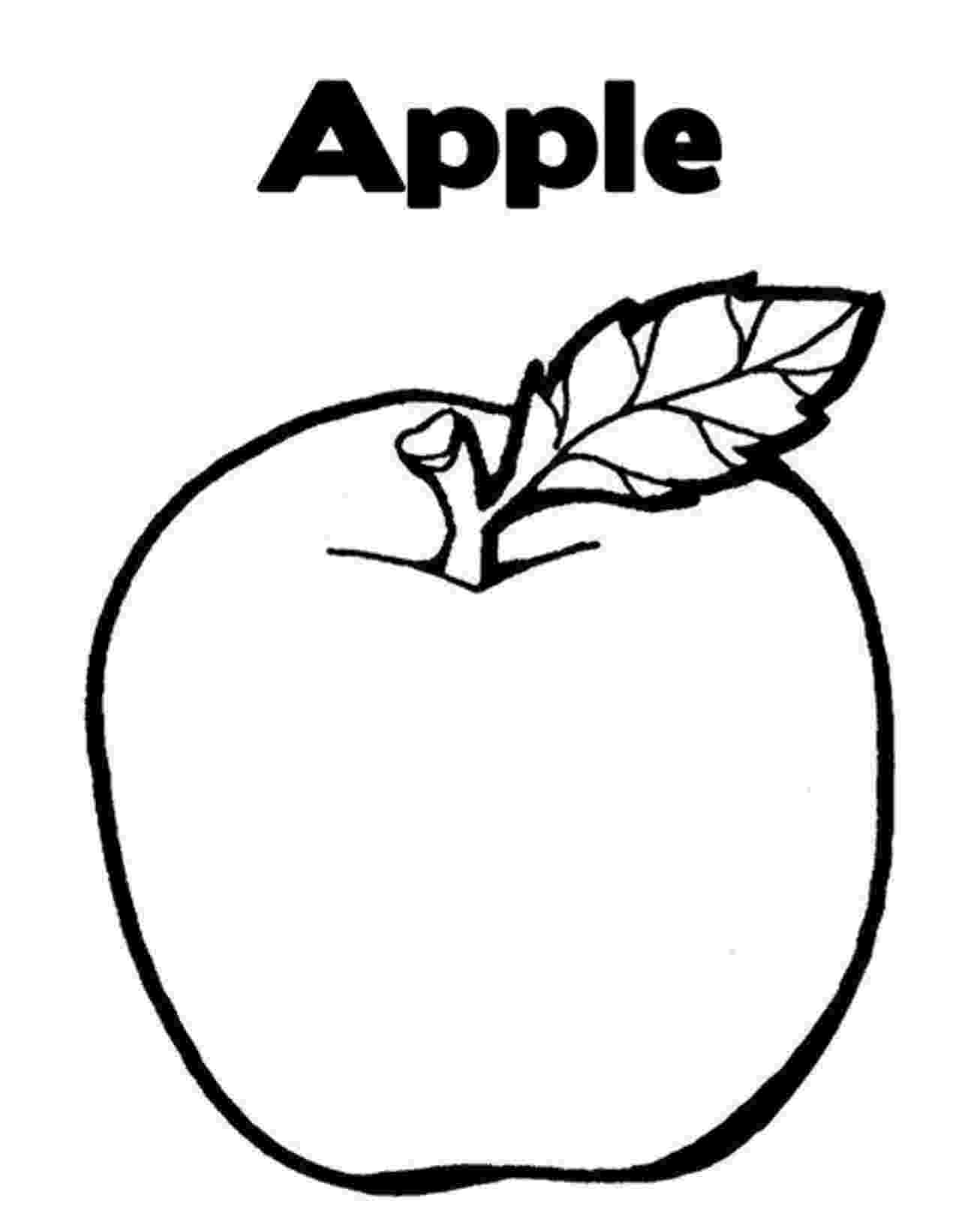 apple coloring kindergarten worksheet guide pictures clip art line apple coloring