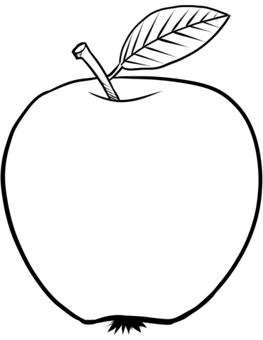 apple for coloring apple with leaf coloring page from apples category select apple for coloring
