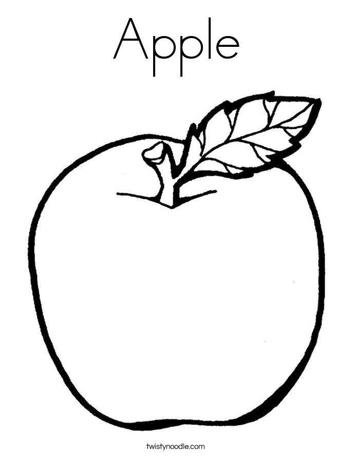 apple for coloring kindergarten worksheet guide pictures clip art line coloring for apple