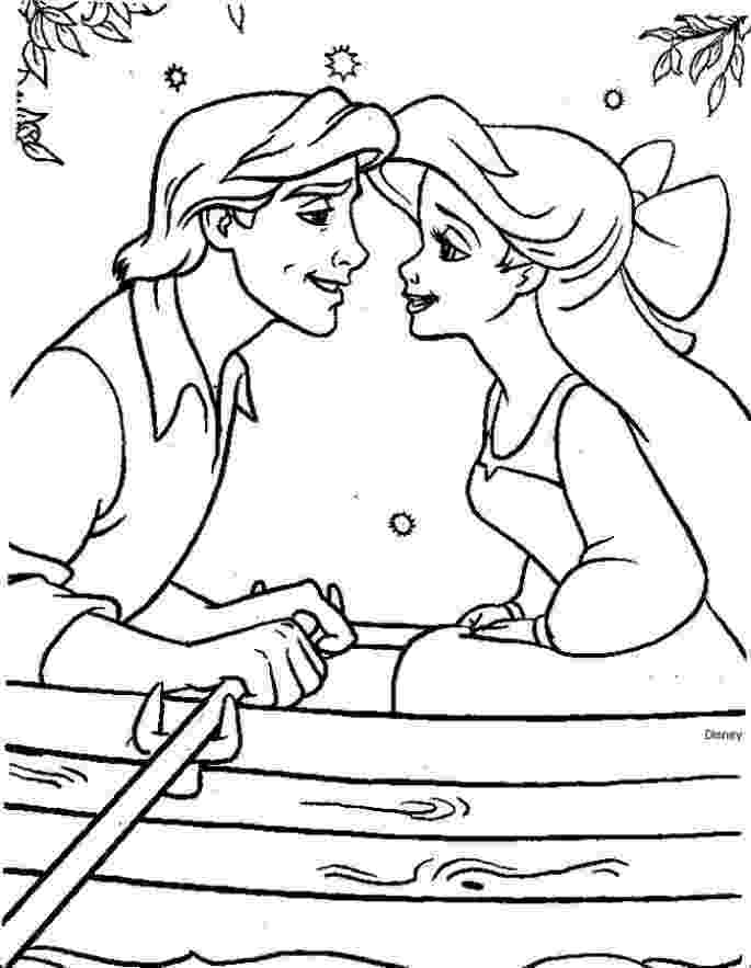 ariel and eric coloring pages a wedding day of ariel and prince eric coloring page and eric ariel pages coloring