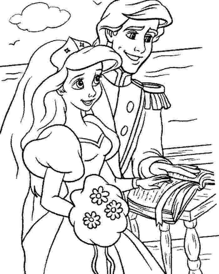 ariel and eric coloring pages disney ariel and eric coloring pages getcoloringpagescom pages ariel eric coloring and