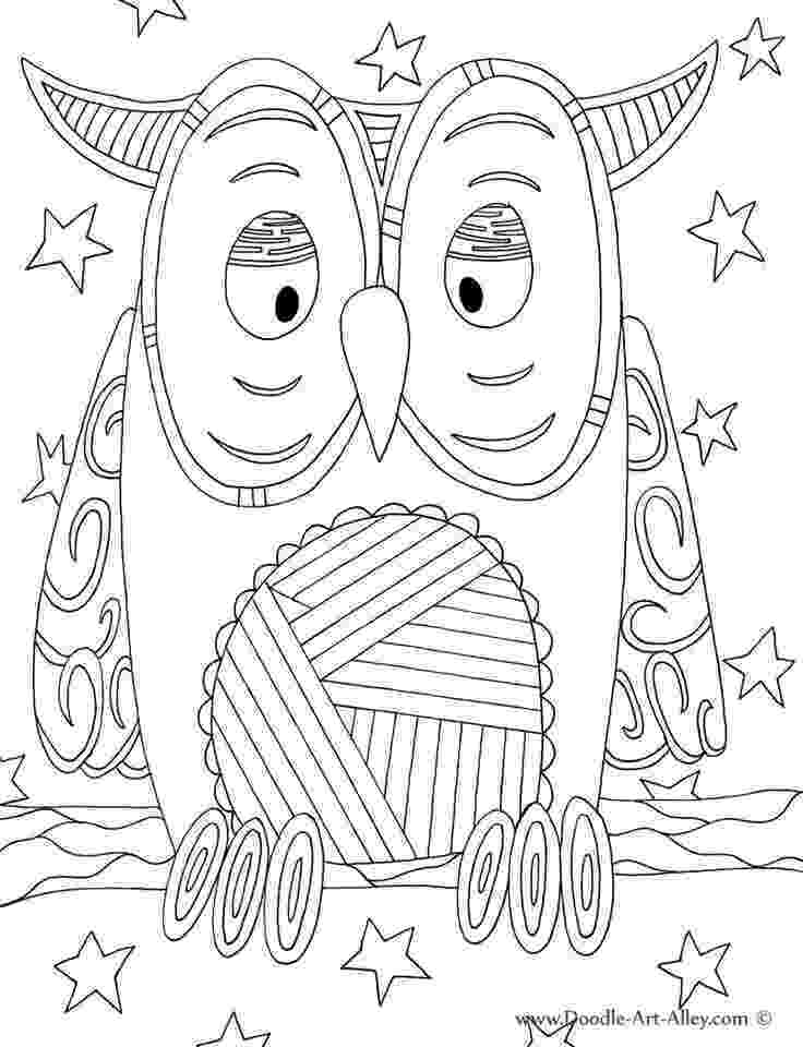 art pages to color bird coloring pages doodle art alley owl classroom pages to art color