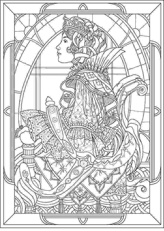 art pages to color queen art nouveau style art nouveau adult coloring pages to pages art color