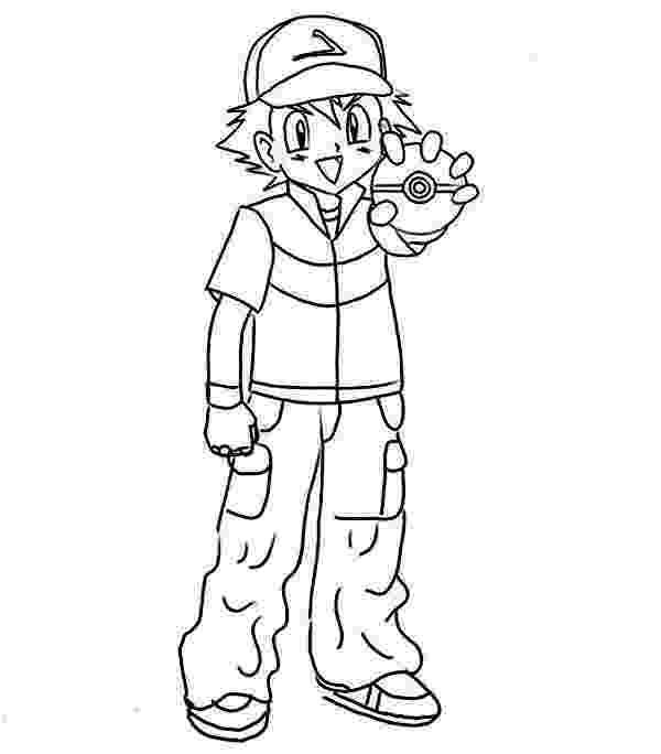 ash ketchum coloring pages ash ketchum and joyful pikachu on pokemon coloring page ketchum pages ash coloring