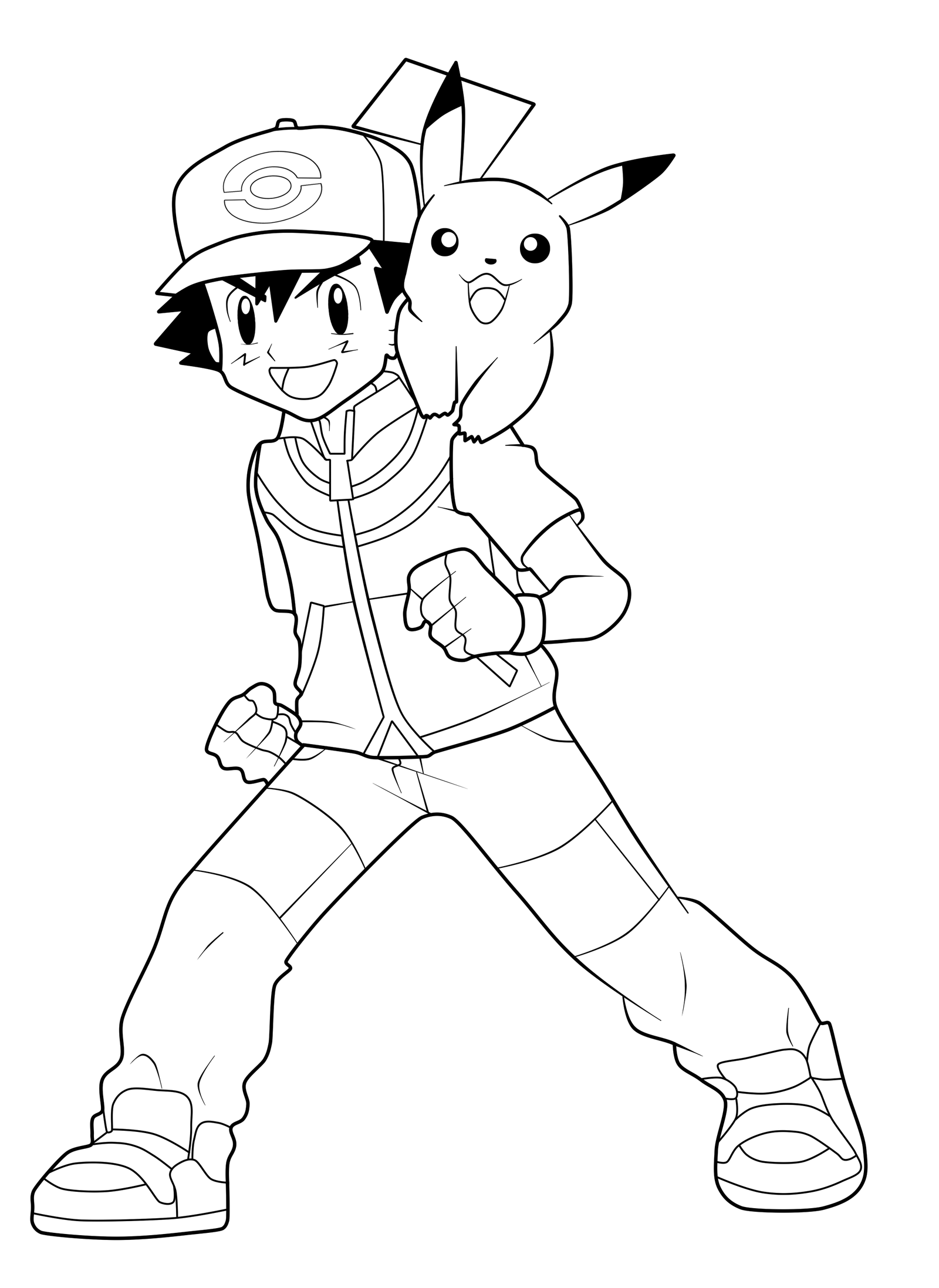 ash ketchum coloring pages ash ketchum is proud to show his pokemon ball on pokemon ketchum coloring pages ash
