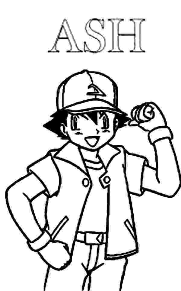 ash ketchum coloring pages ash ketchum winning pose on pokemon coloring page ash pages coloring ketchum