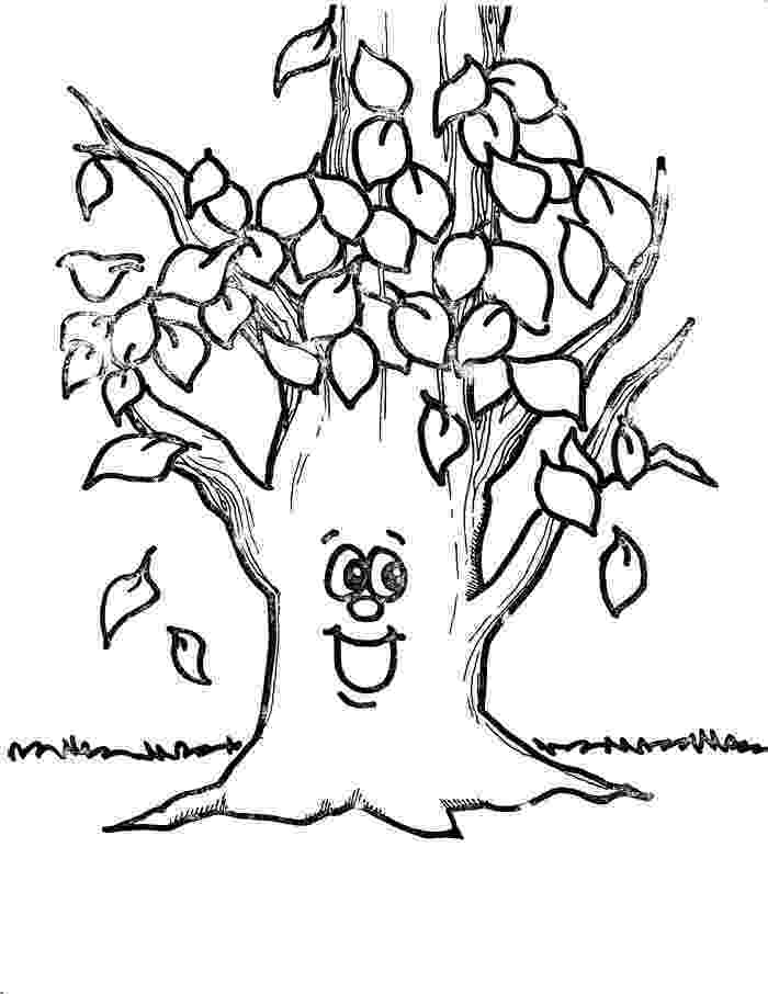 autumn tree coloring page tree leaves coloring pages at getcoloringscom free coloring autumn tree page