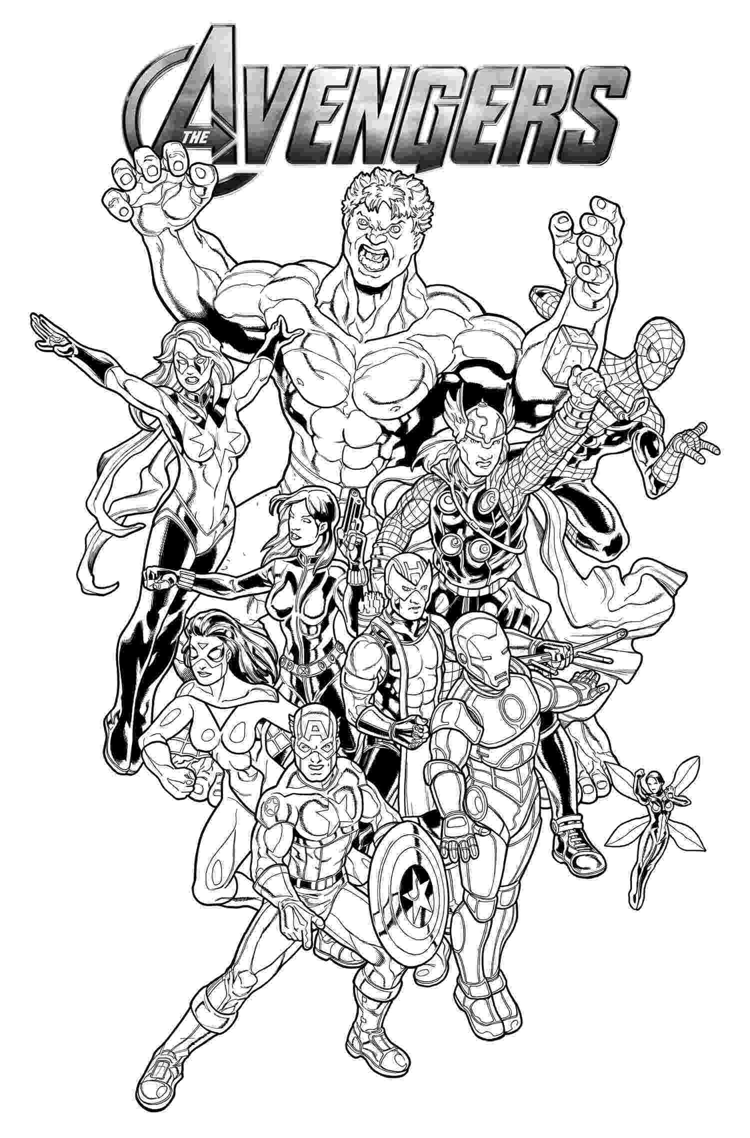 avengers printable coloring pages avengers coloring pages 360coloringpages coloring avengers printable pages