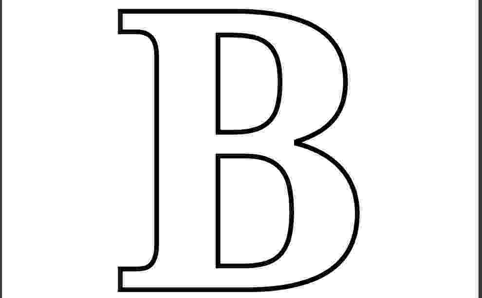 b coloring page how much do you like the letter quotbquot b page coloring