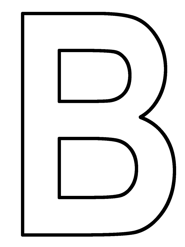 b coloring page letter b coloring pages to download and print for free coloring b page