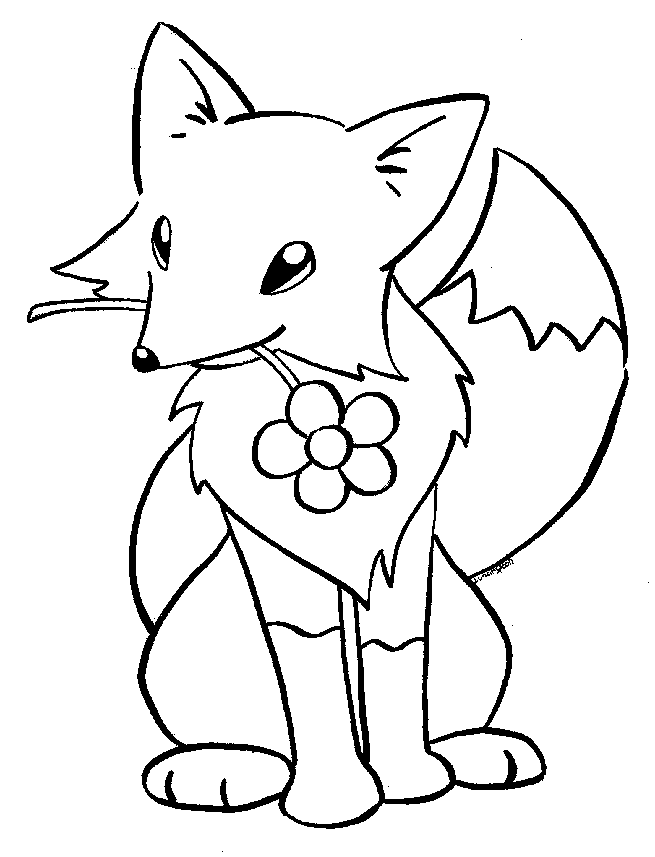 baby fox coloring pages fox coloring pages getcoloringpagescom coloring baby fox pages