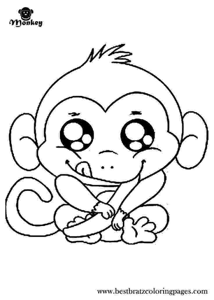 baby monkey coloring pictures 7 free baby monkey coloring for drawing by kids monkey coloring pictures baby