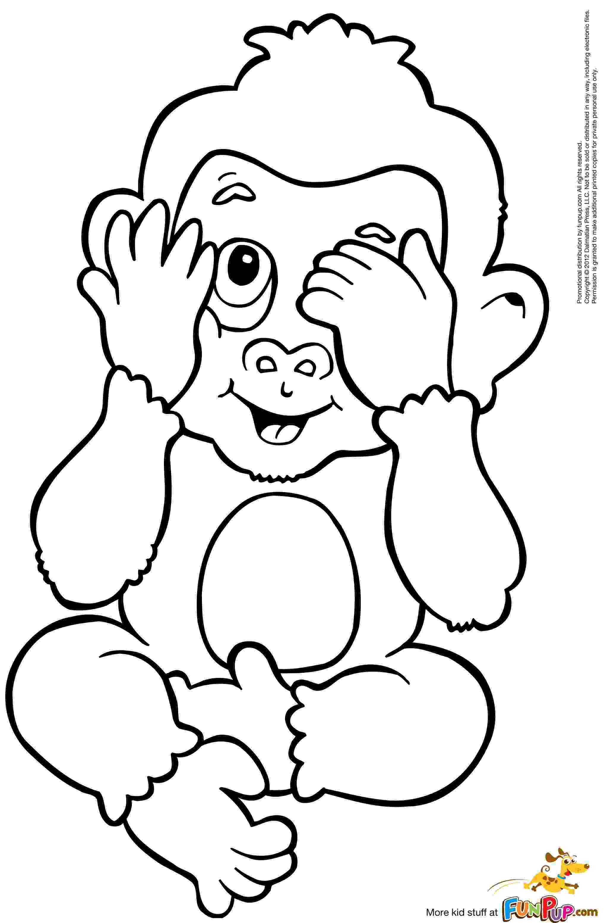 baby monkey coloring pictures baby monkey coloring pages to download and print for free baby coloring monkey pictures