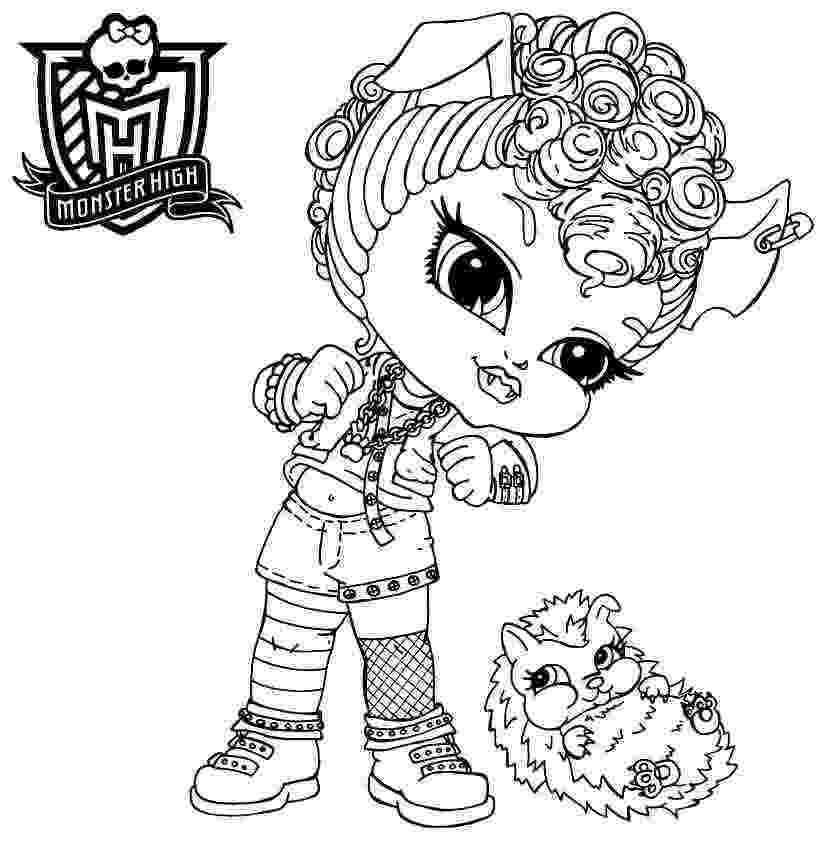 baby monster high coloring pages all about monster high dolls baby monster high character monster coloring baby pages high