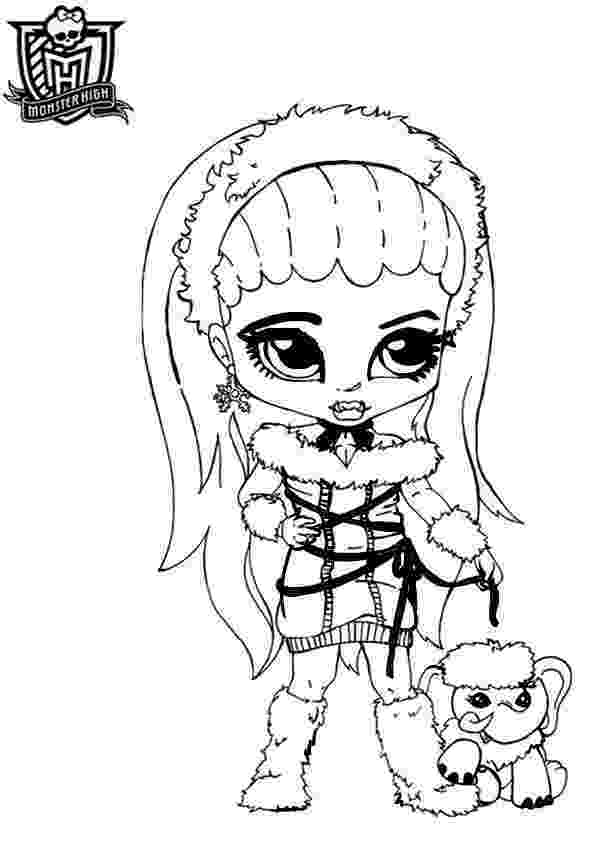 baby monster high coloring pages baby monster high coloring page getcoloringpagescom pages baby coloring monster high