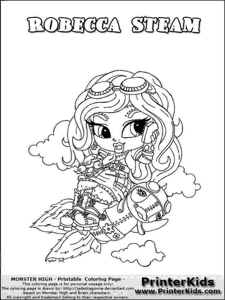 baby monster high coloring pages monster high operetta coloring page getcoloringpagescom monster baby coloring high pages