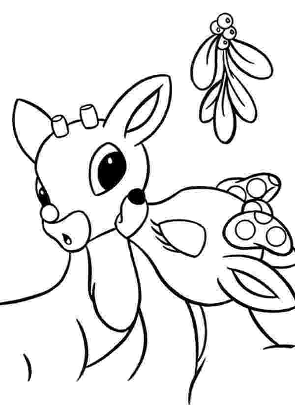 baby reindeer coloring pages clarice kiss rudolph the red nosed reindeer coloring page pages baby coloring reindeer