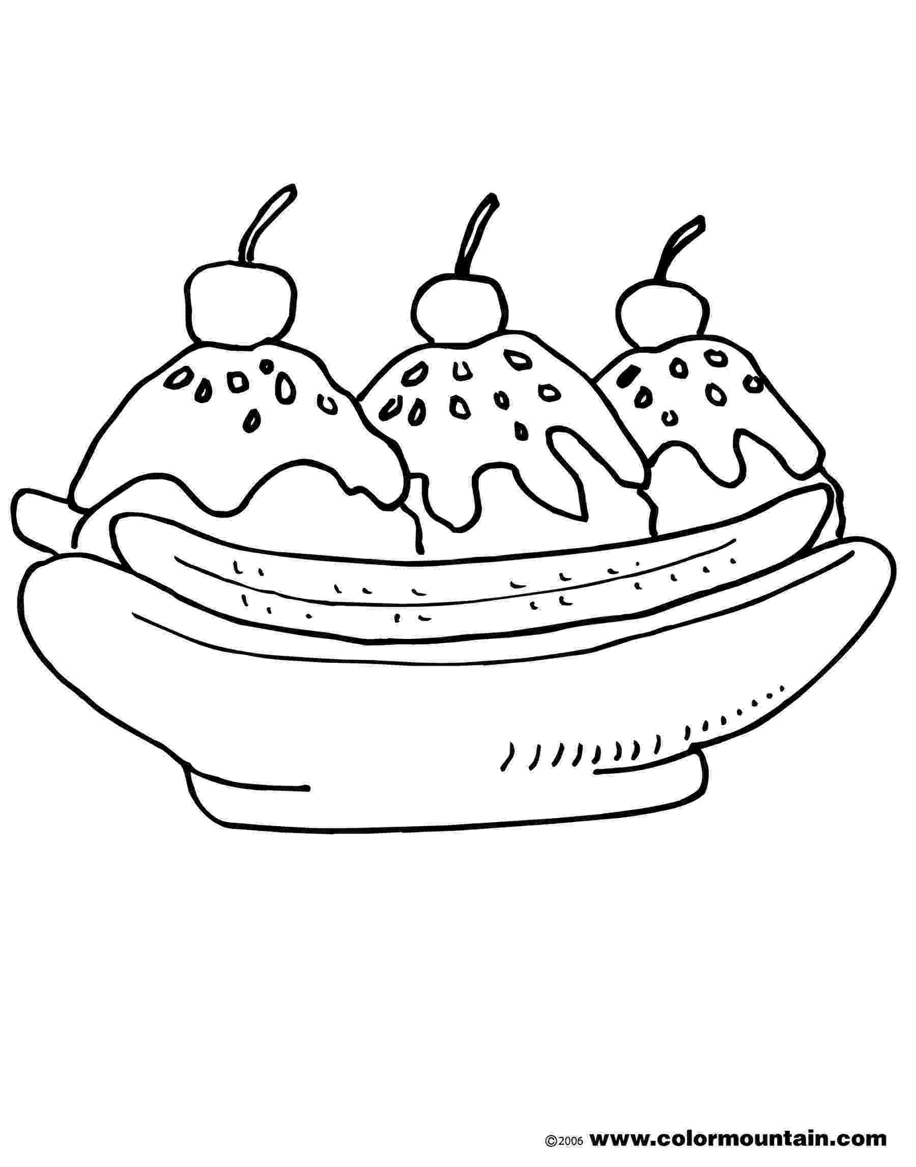 banana split coloring page banana split with chocolate sprinkles coloring pages split page coloring banana