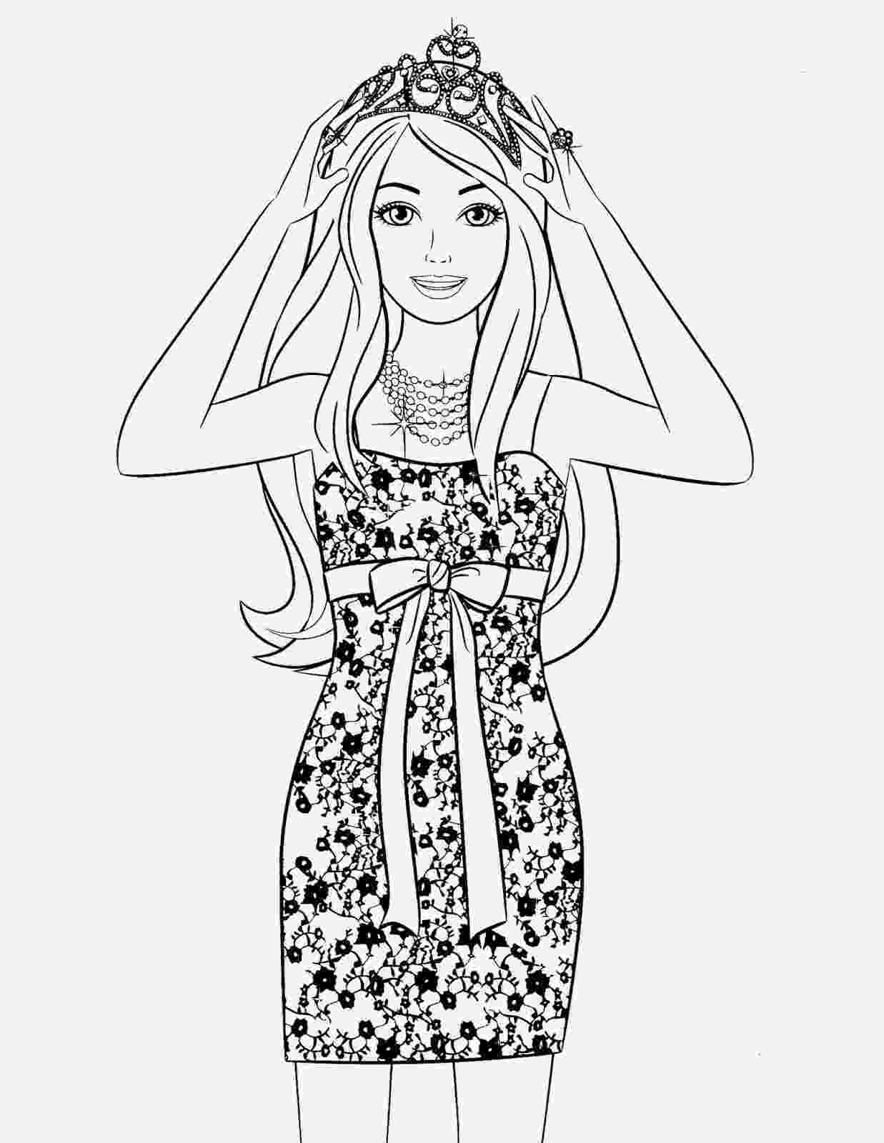 barbie girl colouring pictures 85 barbie coloring pages for girls barbie princess colouring barbie pictures girl 1 1