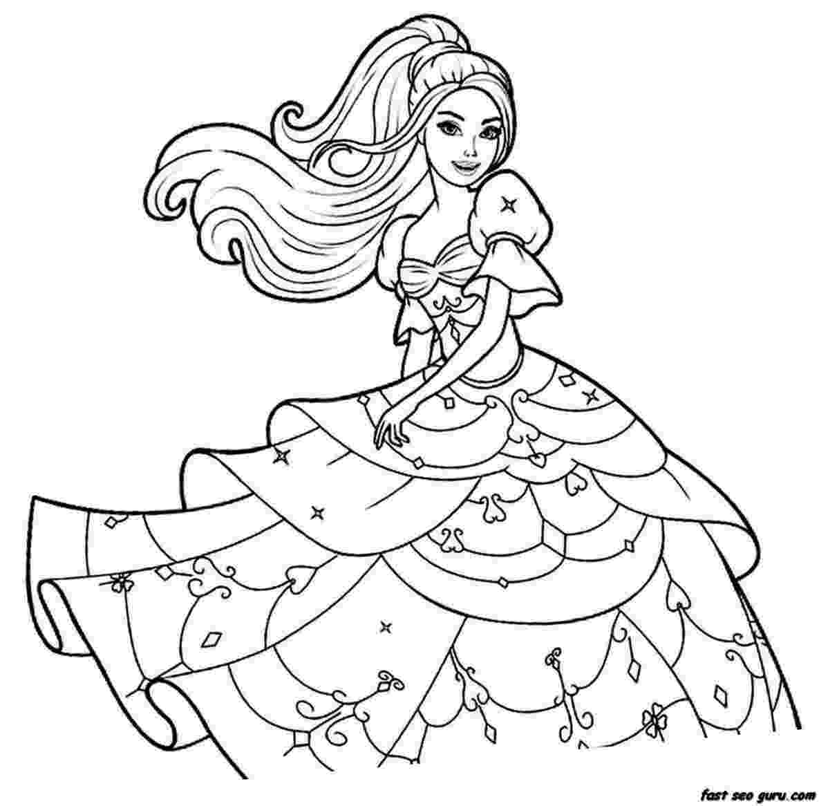 barbie girl colouring pictures 85 barbie coloring pages for girls barbie princess girl pictures colouring barbie