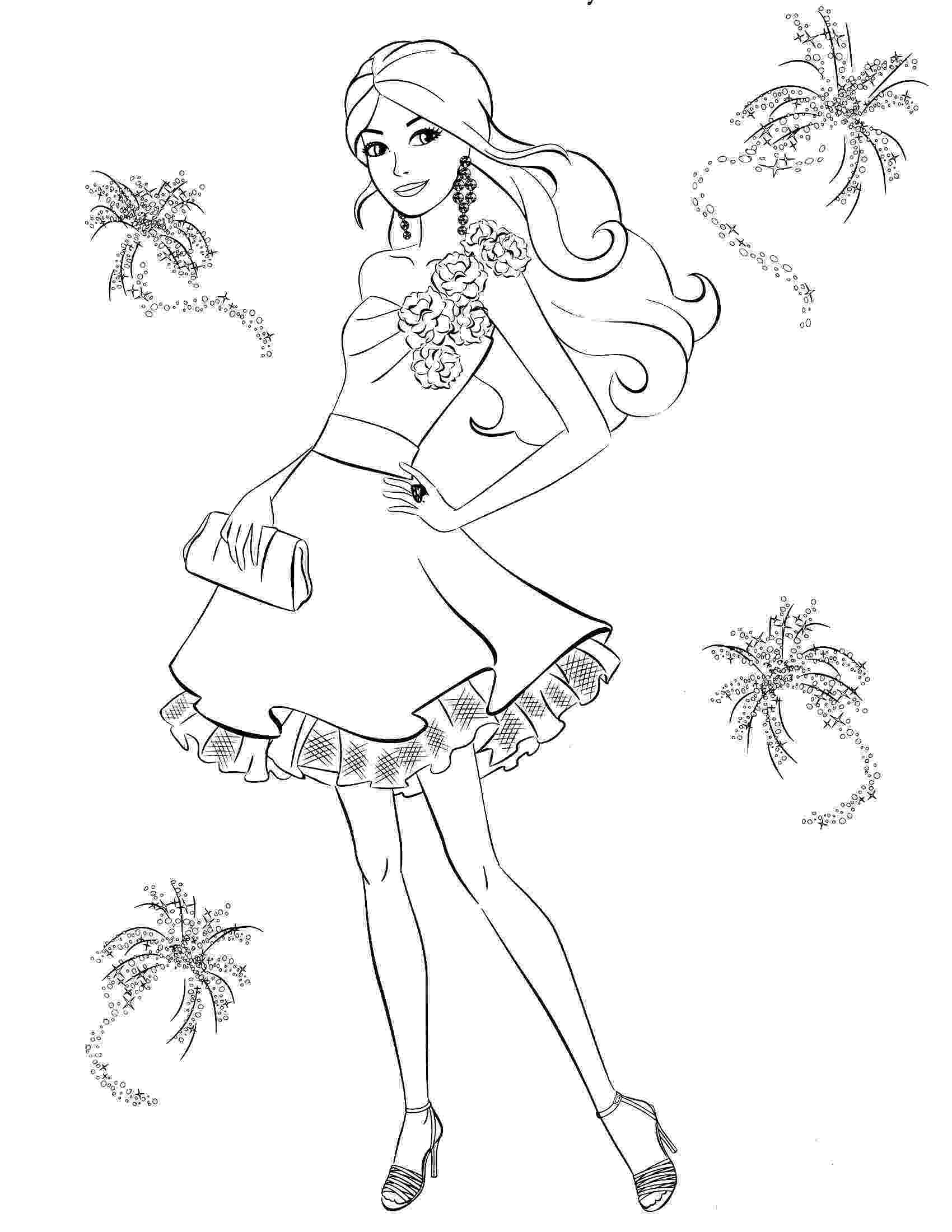 barbie pictures to color games printable barbie princess coloring pages for kids cool2bkids to pictures barbie color games