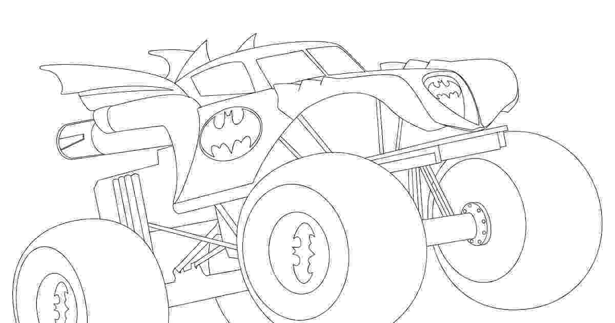 batman monster truck batman monster truck coloring page truck batman monster