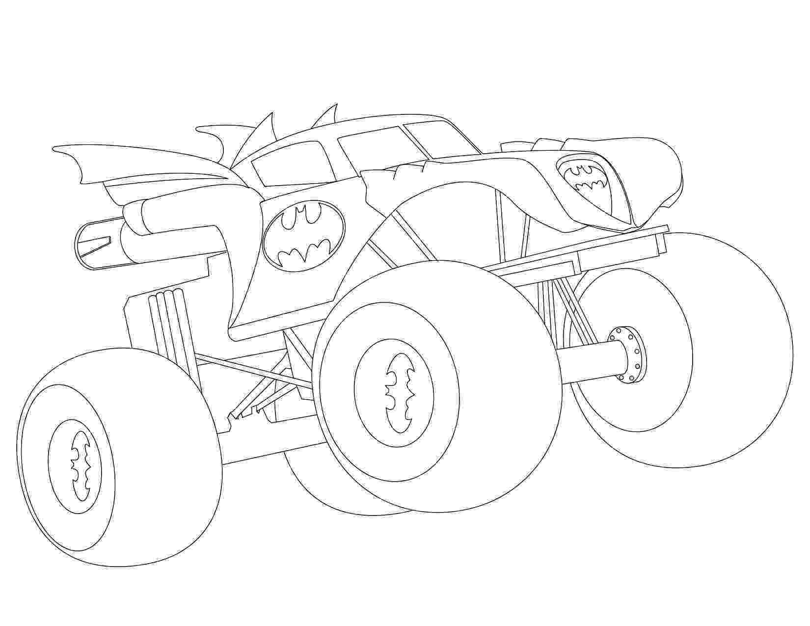 batman monster truck enjoyable design monster jam coloring pages printables 10 truck monster batman