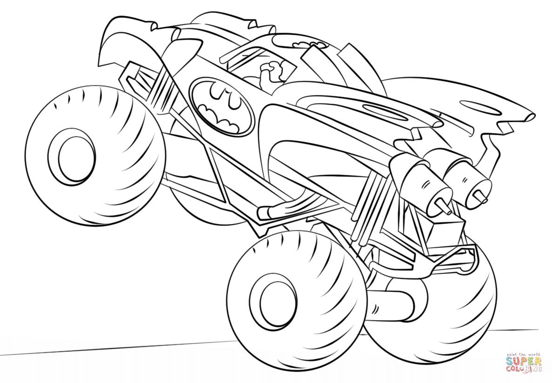 batman monster truck free printable monster truck coloring pages for kids monster truck batman