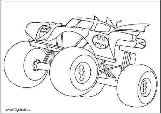 batman monster truck plansa de colorat cu batman monster truck tigrisorro truck batman monster