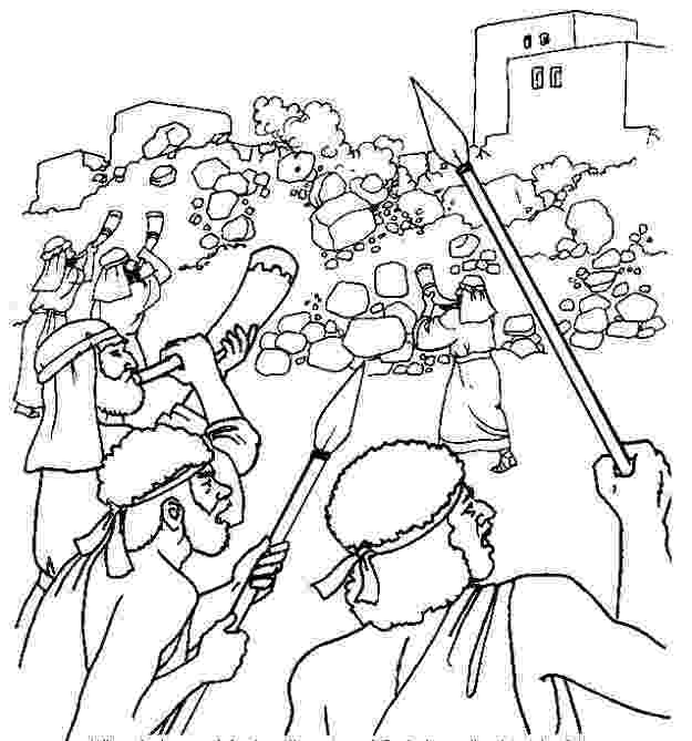 battle of jericho coloring page joshua and jericho coloring sheet bible education it39s jericho coloring of battle page