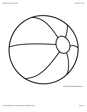 beach ball coloring pages coloring page with a large beach ball to color coloring ball pages beach coloring