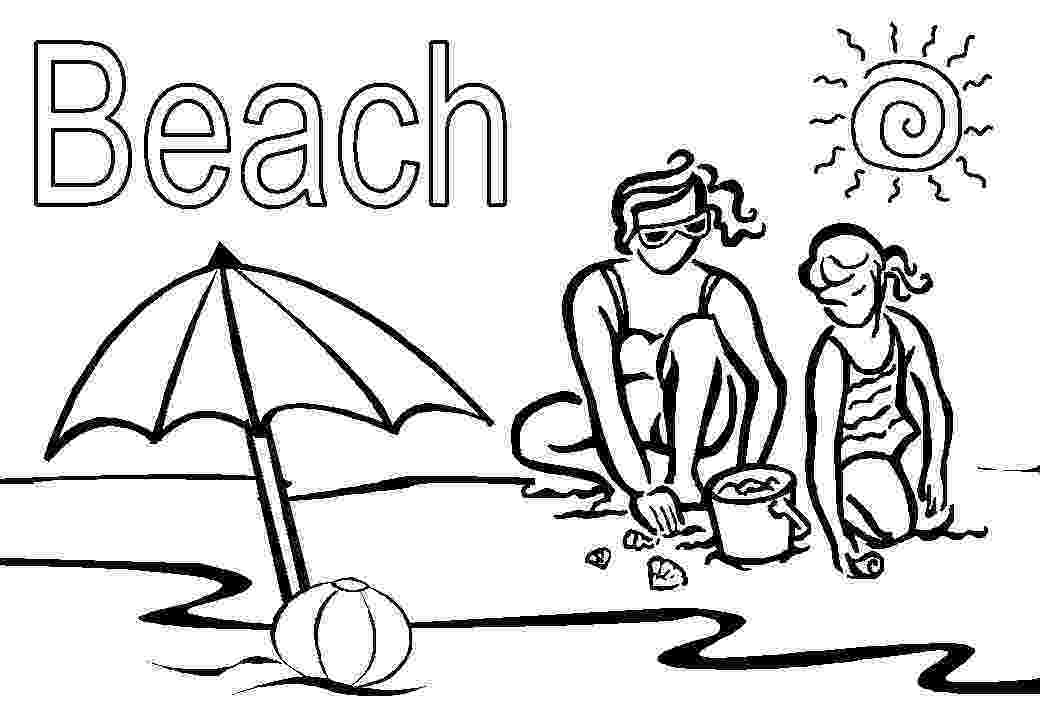 beach coloring pages beach coloring page pictures pages beach coloring