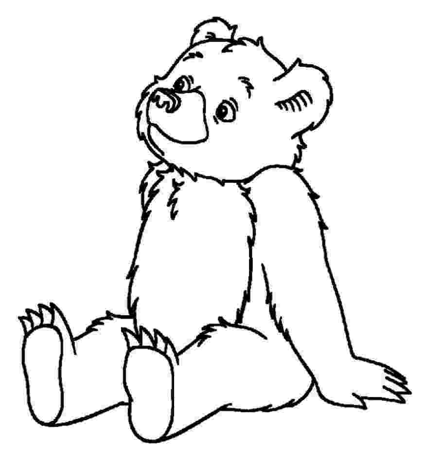 bear pictures to color free printable bear coloring pages for kids color to bear pictures