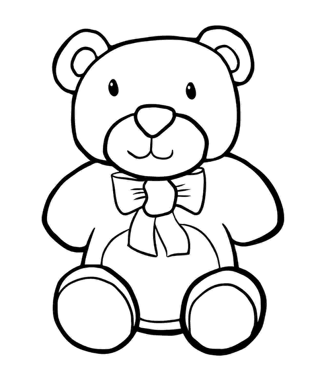 bear pictures to color free printable teddy bear coloring pages for kids to bear color pictures