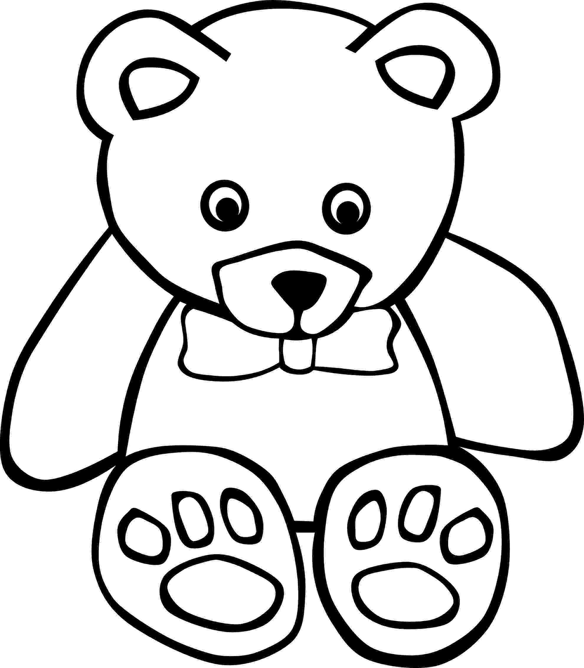 bear pictures to color printable teddy bear coloring pages for kids cool2bkids to color bear pictures