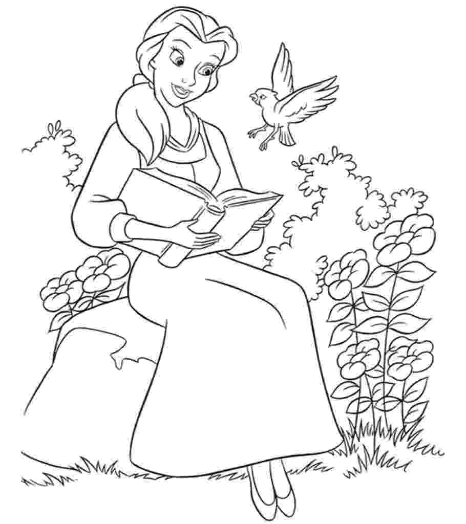 beauty and the beast pictures to colour beauty and the beast coloring pages 3 disneyclipscom and the pictures beauty to colour beast