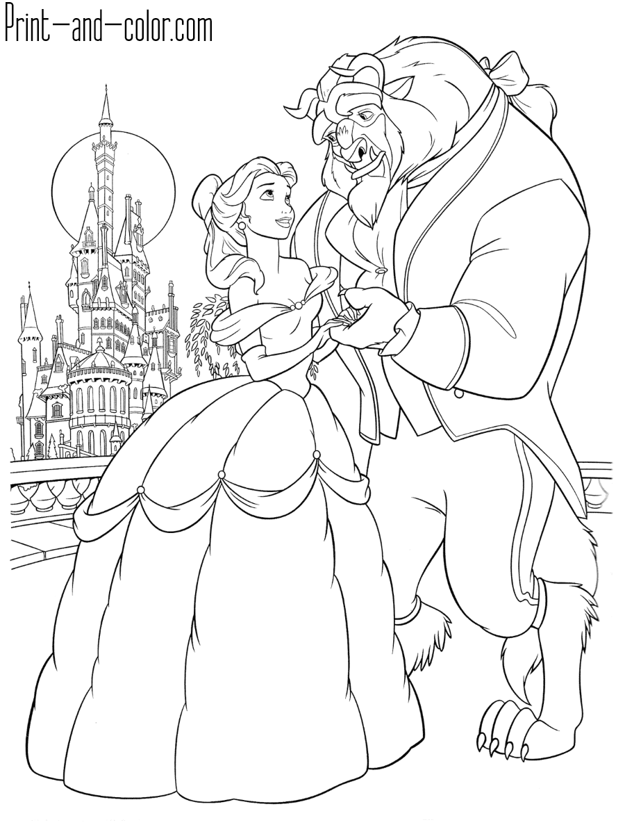 beauty and the beast pictures to colour beauty and the beast coloring pages print and colorcom to colour pictures beast beauty and the
